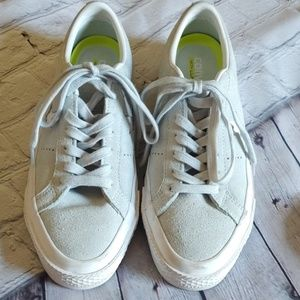 Suede mint Converse Shoes